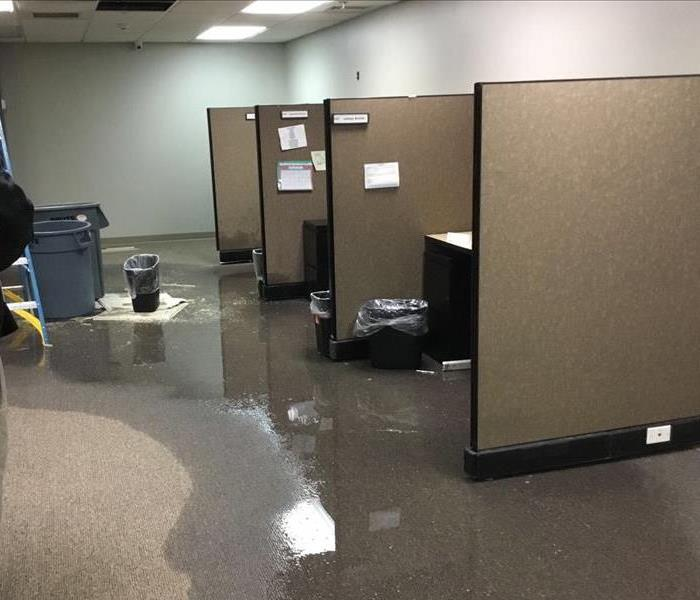 Water Damage to a Commercial Building Before