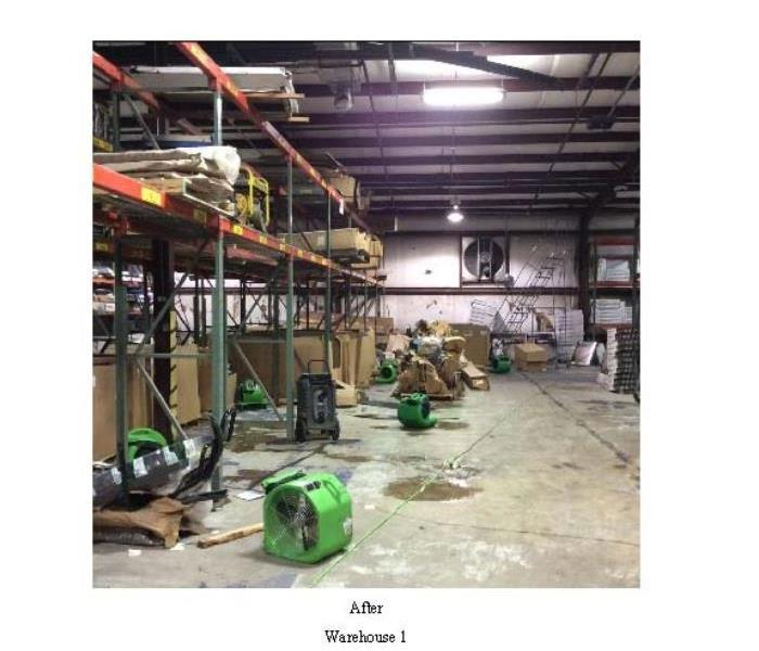 Commercial Warehouse Water Loss